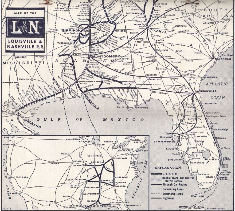 1958 L&N Railroad System Map Map N on network security toolkit, john the ripper, metasploit project,