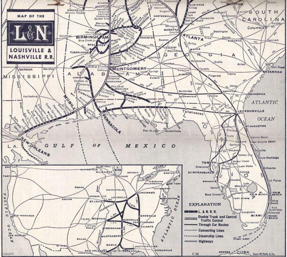 1958 LampN Railroad System Map