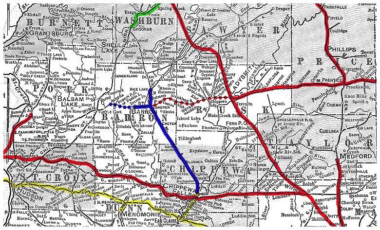 Wisconsin Northern Railroad Maps